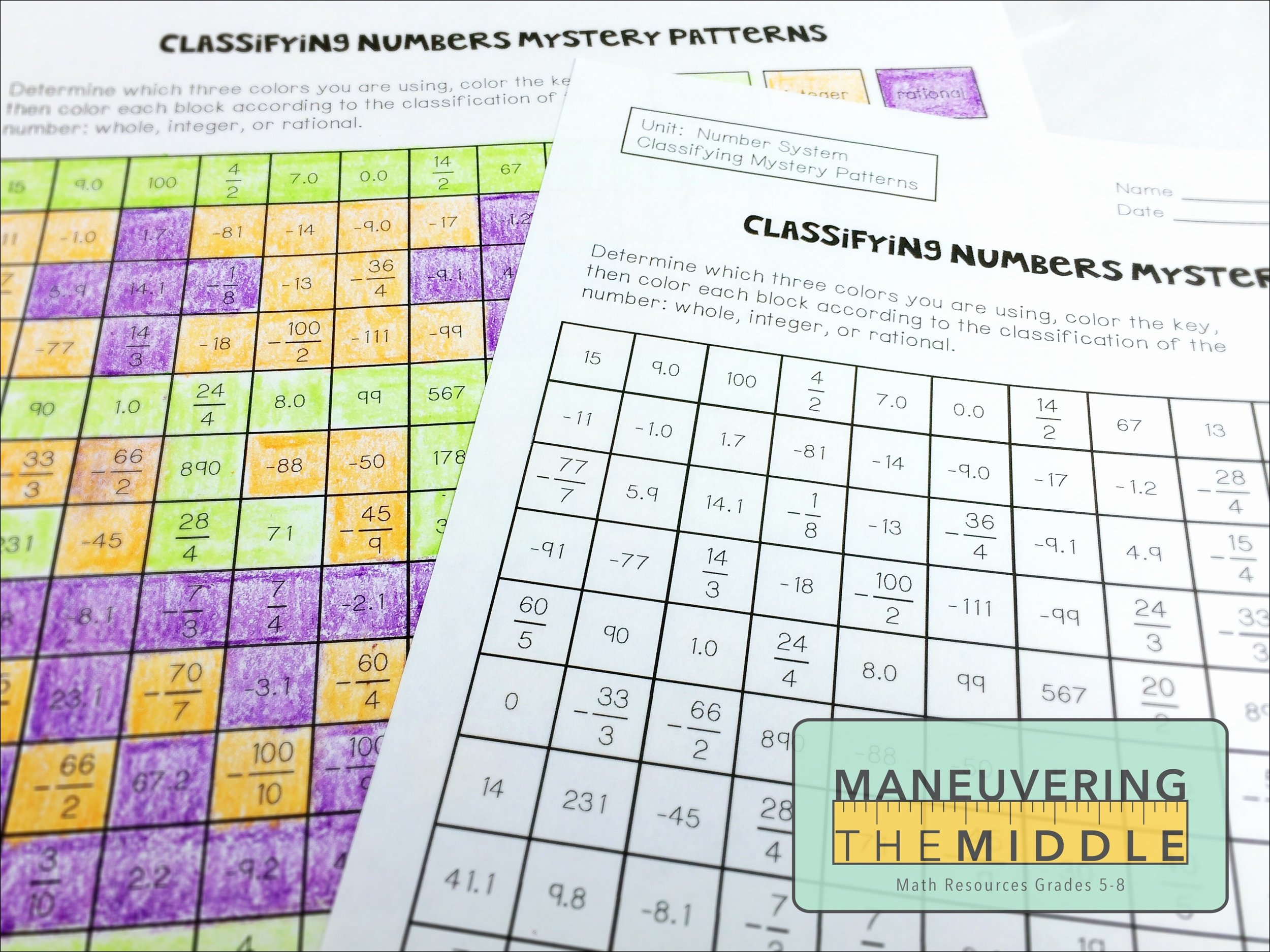 Classify Real Numbers Worksheet Inspirational Resources for the Number System Maneuvering the Middle