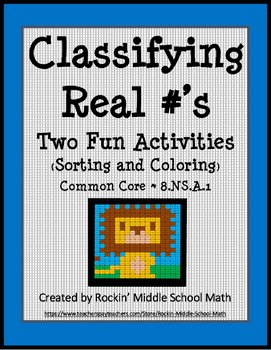 Classify Real Numbers Worksheet Lovely Real Number Classification Color Sheet and sorting
