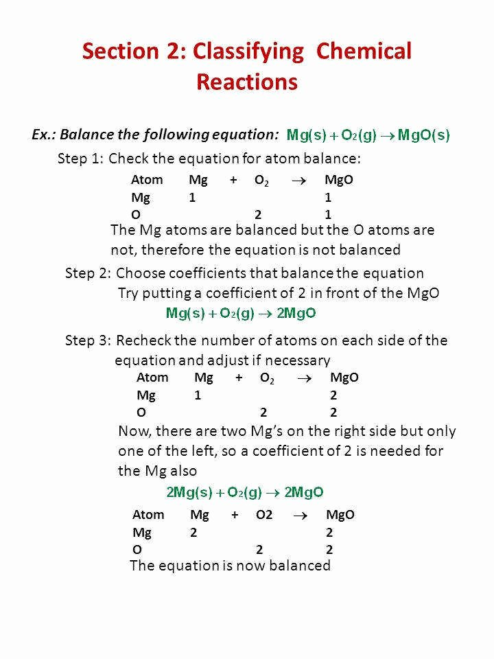 Classifying Chemical Reactions Worksheet Answers Beautiful Classifying Chemical Reactions Worksheet Answers