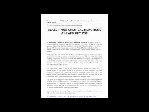 Classifying Chemical Reactions Worksheet Answers Beautiful Classifying Chemical Reactions Worksheet