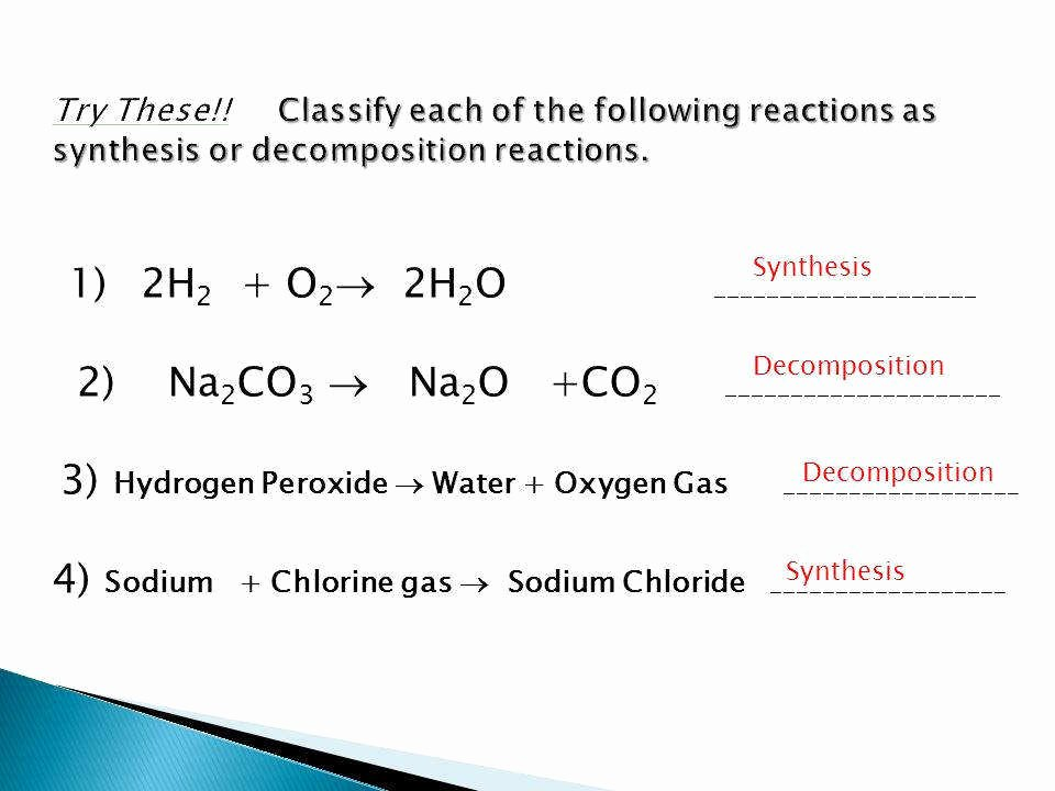 Classifying Chemical Reactions Worksheet Answers Inspirational Classifying Chemical Reactions Worksheet Answers