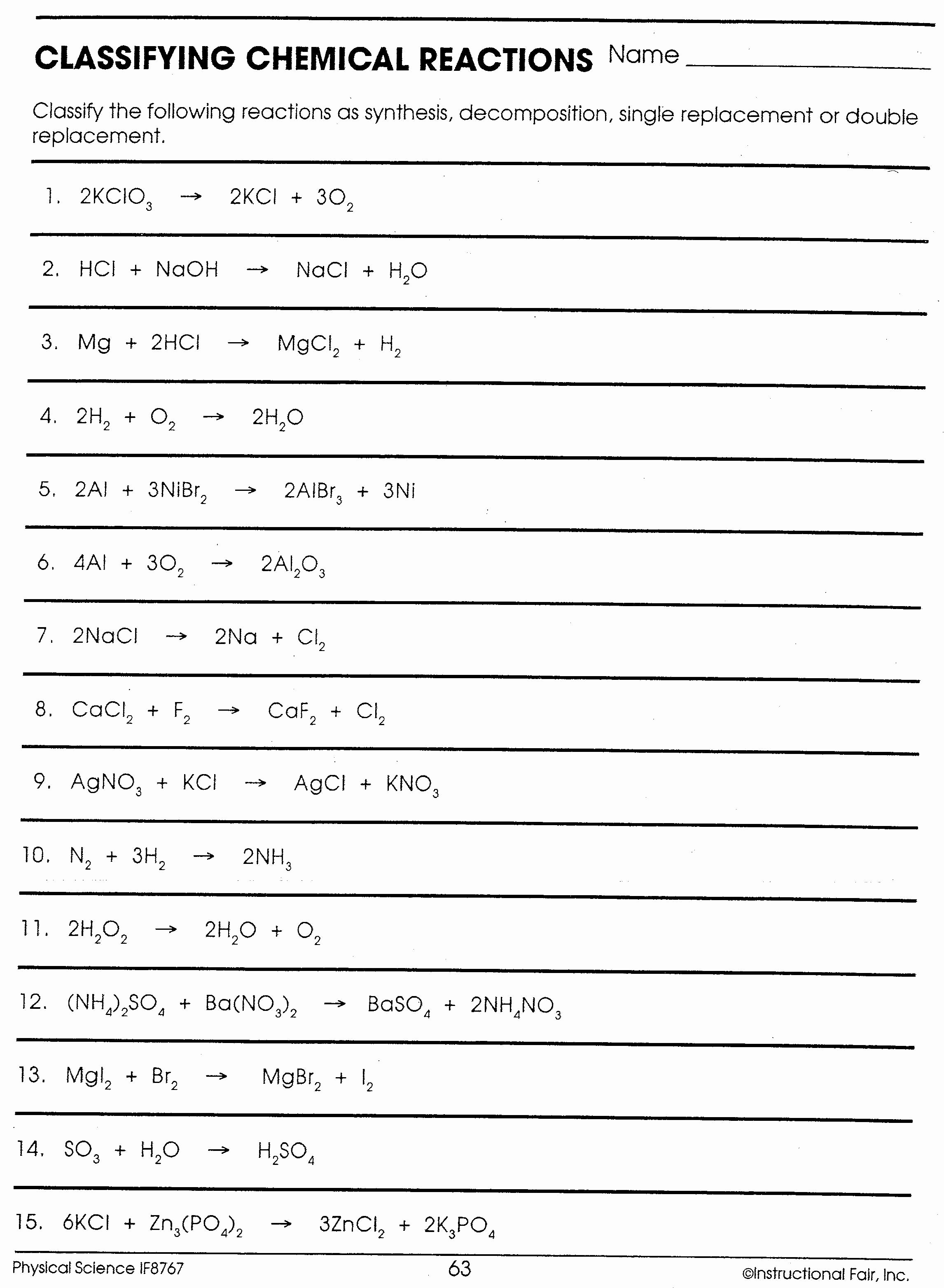 Classifying Chemical Reactions Worksheet Beautiful Lab Ionic Pound Worksheet