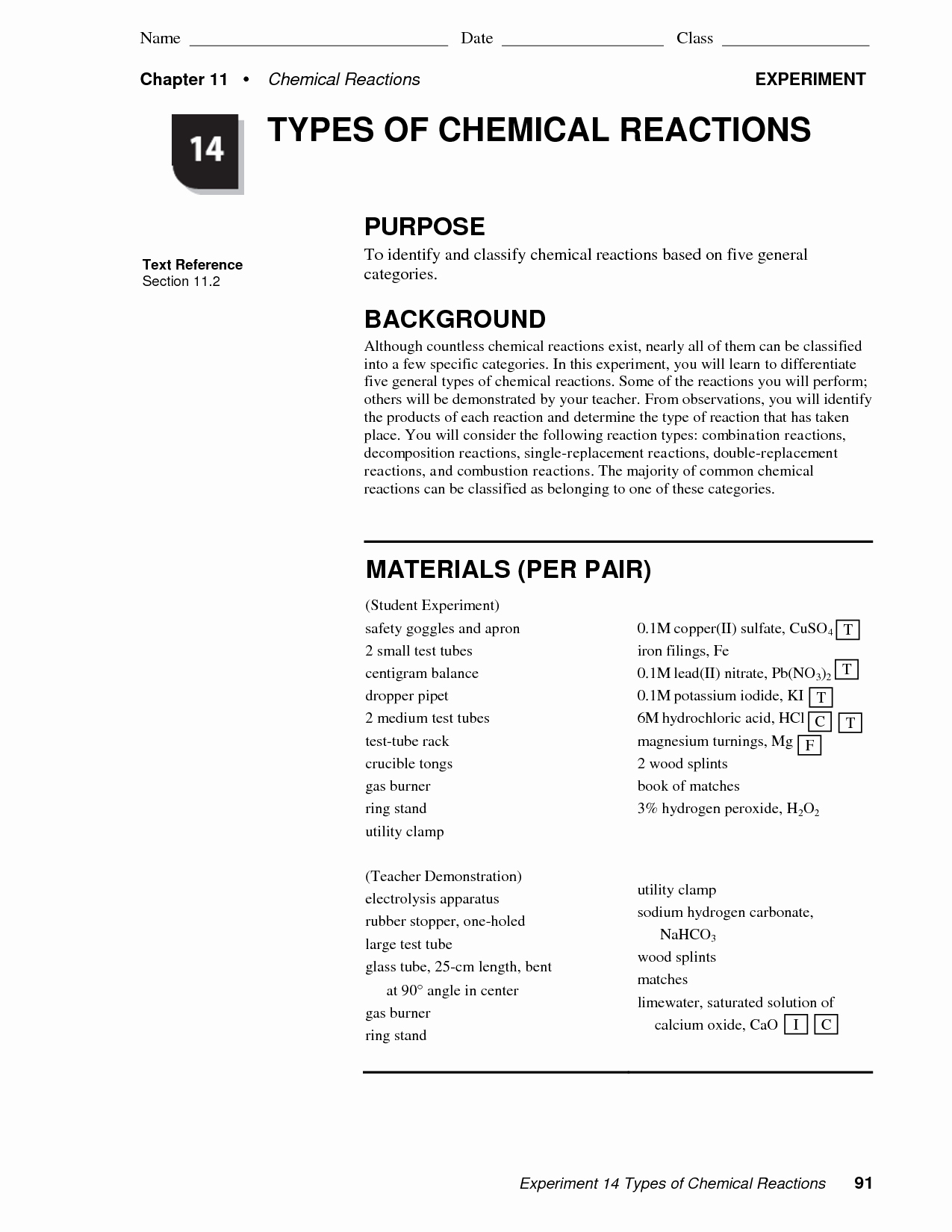 Classifying Chemical Reactions Worksheet Beautiful Worksheet Identifying Chemical Reactions Worksheet