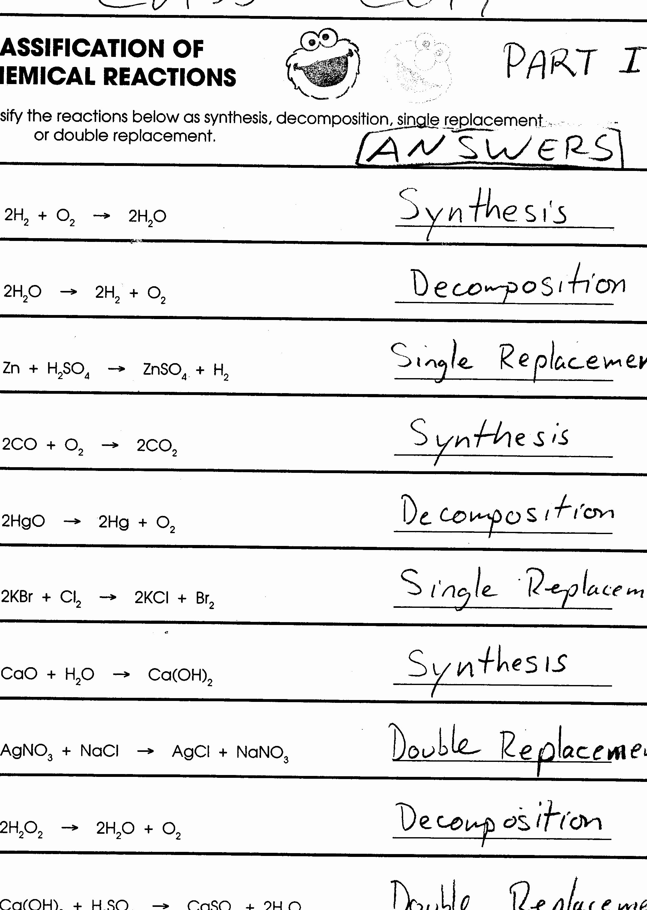 Classifying Chemical Reactions Worksheet New 16 Best Of Classifying Matter Worksheet