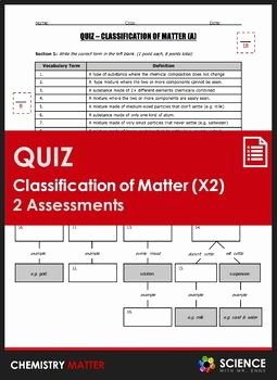 Classifying Matter Worksheet Answer Key Best Of Chemistry 1 Worksheet Classification Matter and Changes