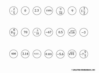 Classifying Rational Numbers Worksheet Beautiful Classifying Rational Numbers Cut N sort Activity by