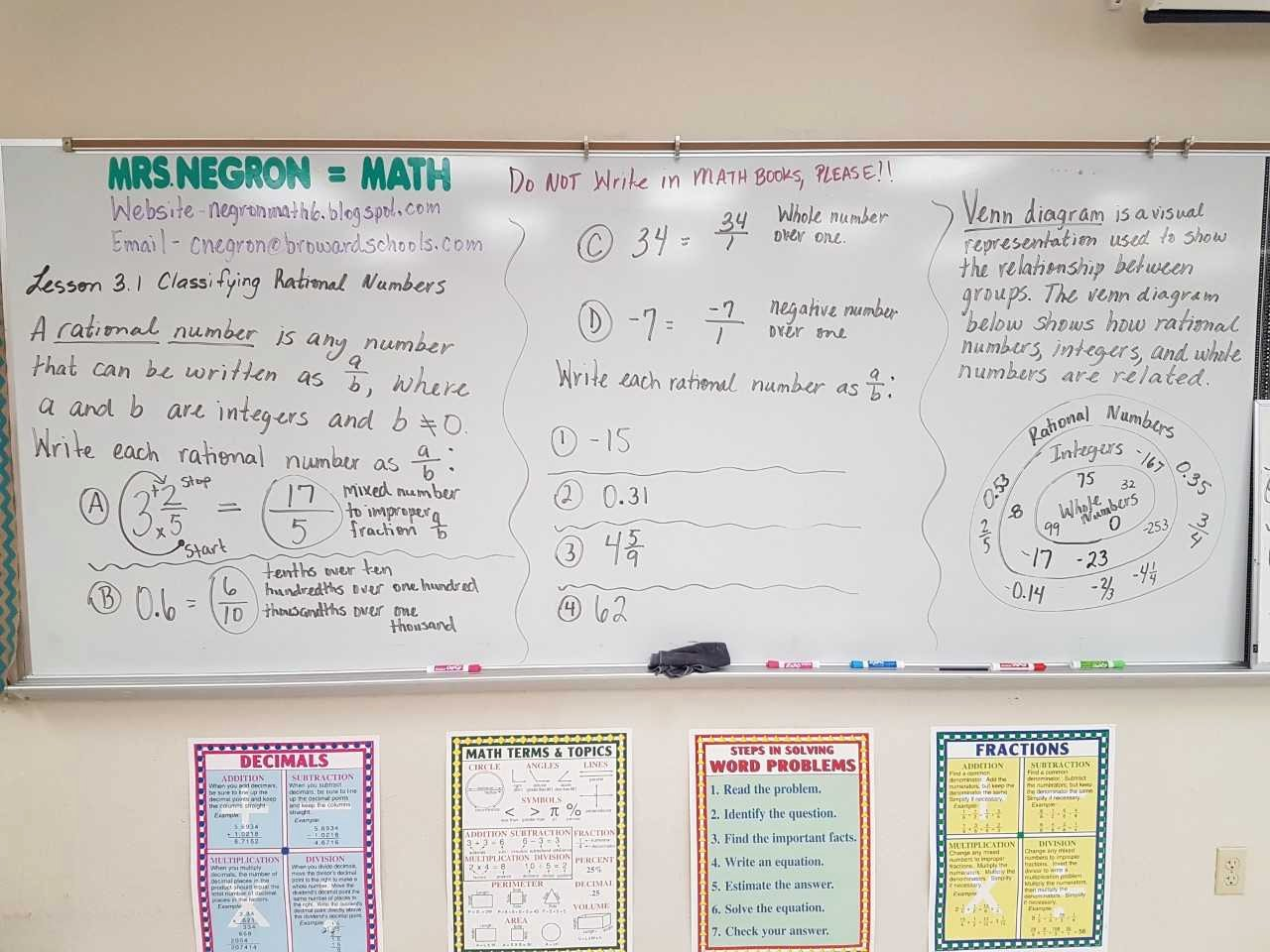 Classifying Rational Numbers Worksheet Best Of Mrs Negron 6th Grade Math Class Lesson 3 1 Classifying