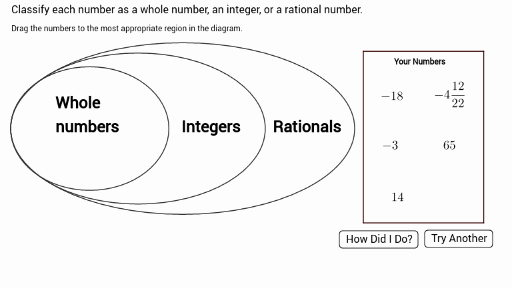 Classifying Rational Numbers Worksheet Elegant Ns1 01 P3 Classifying Numbers as Rational Integer or