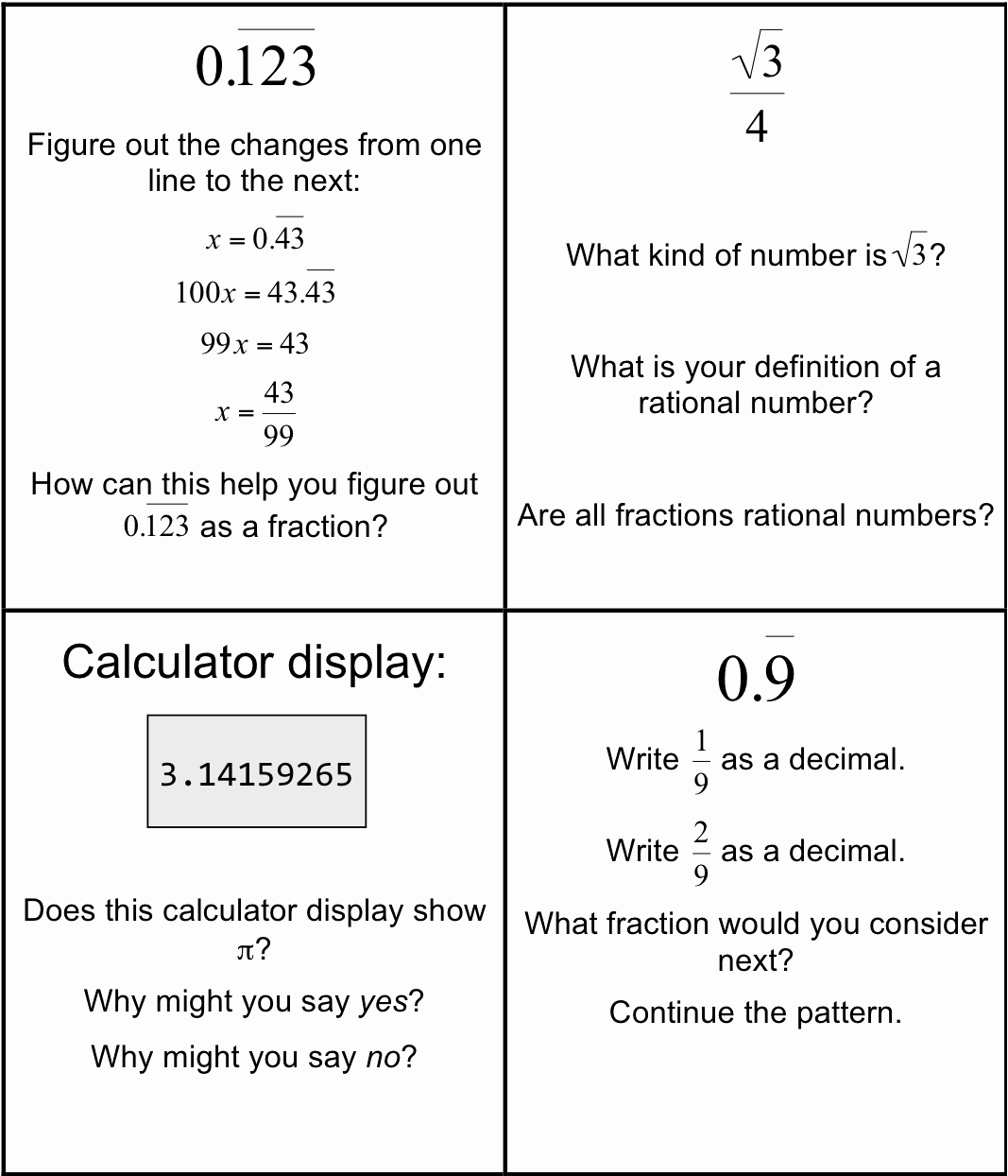 Classifying Rational Numbers Worksheet Lovely is It Rational Worksheets