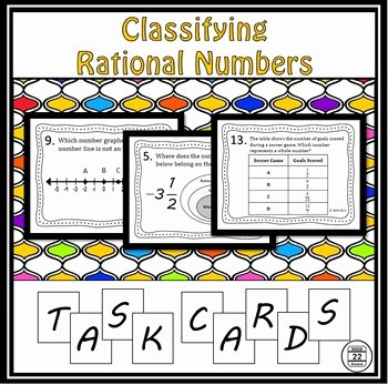 Classifying Rational Numbers Worksheet New Classifying Rational Numbers Task Cards by Route 22