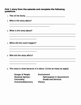 Cnn Student News Worksheet Awesome Cnn Student News Sheet by Mrs Maddoxs Class