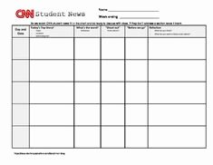 Cnn Students News Worksheet Awesome Cnn Student News Guided Worksheet