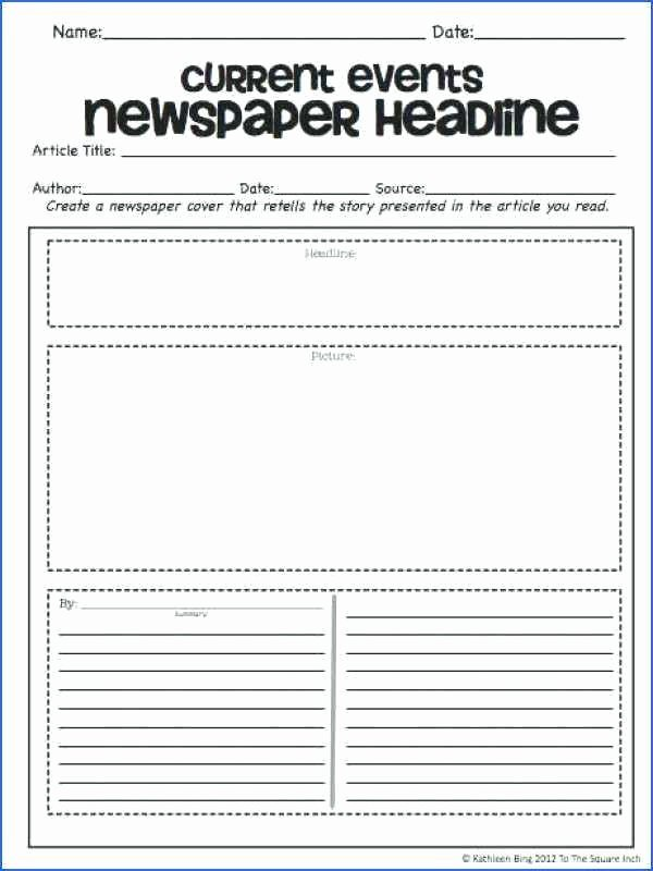 Cnn Students News Worksheet Fresh Current events for Students Worksheets