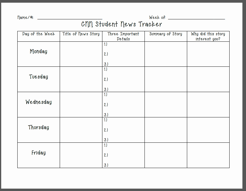 Cnn Students News Worksheet Inspirational Cnn Student News Freebie