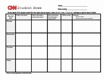 Cnn Students News Worksheet Inspirational Cnn Student News Worksheet Revised by Inner Daisy