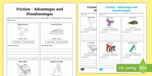 Coefficient Of Friction Worksheet Answers Awesome Friction Worksheet