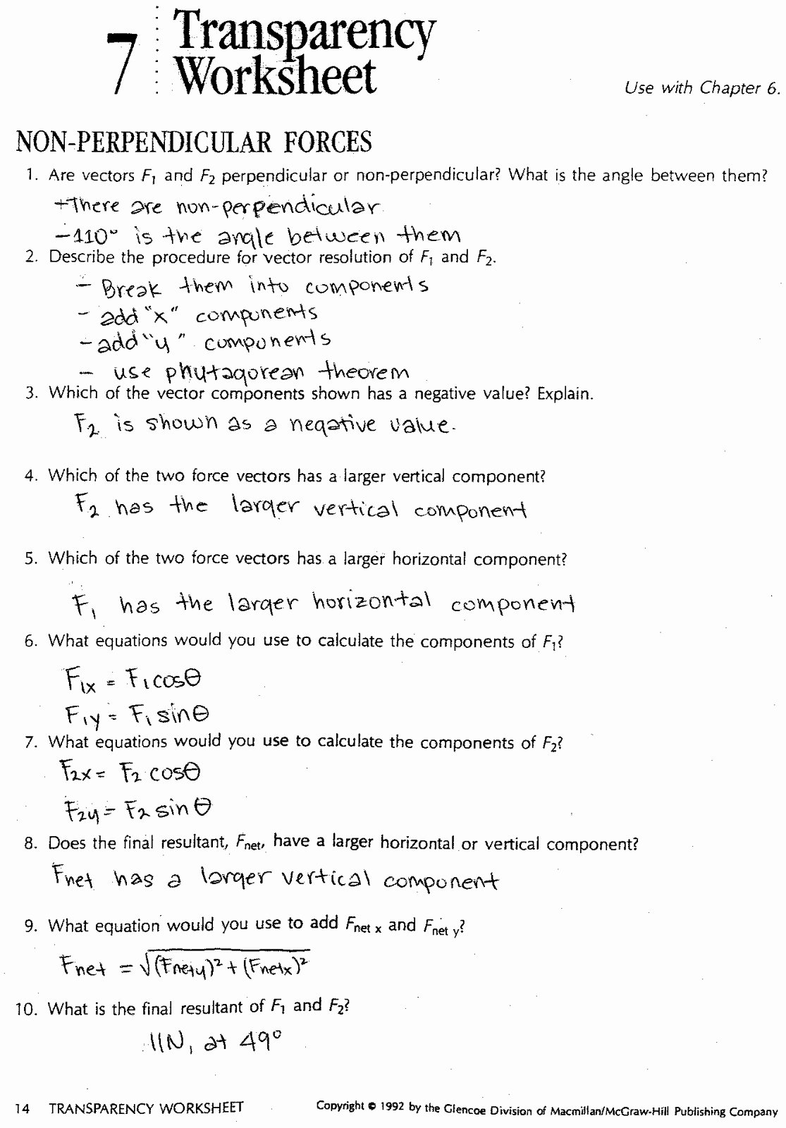 Coefficient Of Friction Worksheet Answers New Physics12fall2010 Dynamics Review