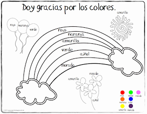 Colors In Spanish Worksheet Awesome Spanish Thanksgiving Vocabulary Coloring Pages Spanish