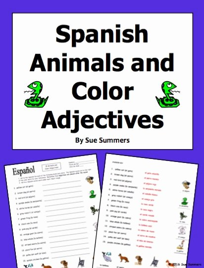 Colors In Spanish Worksheet Awesome Spanish Writing assignment My Spring Vacation Mis