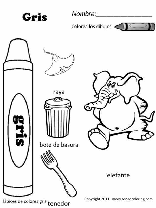 Colors In Spanish Worksheet Awesome Z'onae Coloring Education Colors Colors Worksheets 1