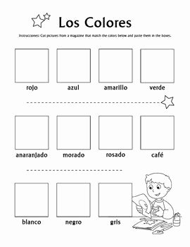 Colors In Spanish Worksheet Beautiful Los Colores Magazine Cut and Paste Worksheet
