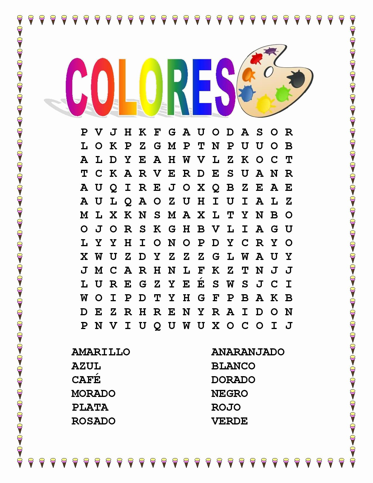 Colors In Spanish Worksheet Beautiful Miscellaneous Lesson Spanish Colors Vocabulary & Word