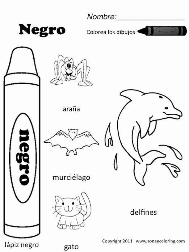 Colors In Spanish Worksheet Best Of Z'onae Coloring Education Colors Colors Worksheets 1 Spanish