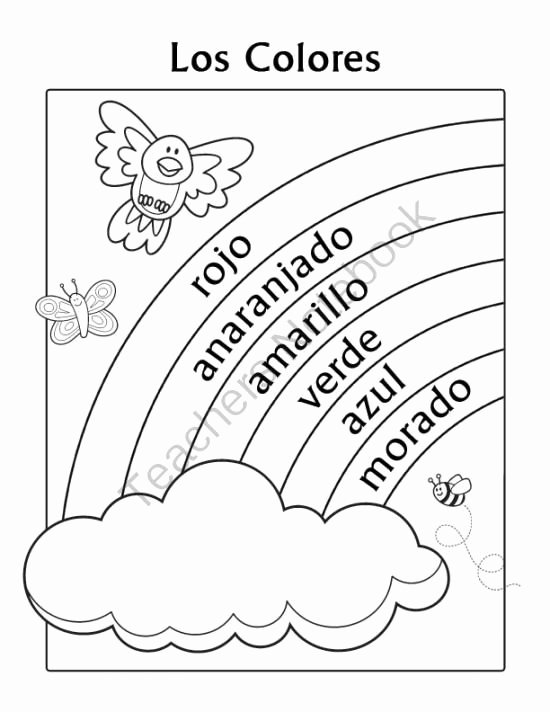 Colors In Spanish Worksheet Elegant 37 Best Images About Spanish On Pinterest