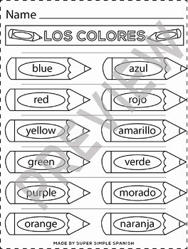 Colors In Spanish Worksheet Fresh Colors In Spanish Printable