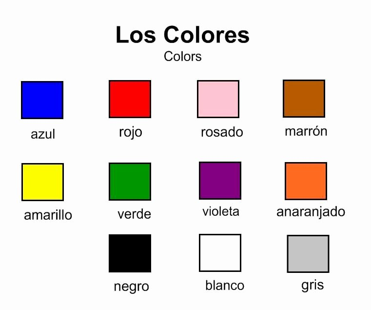 Colors In Spanish Worksheet Inspirational Spanish Colors Vocabulary Homeschooling