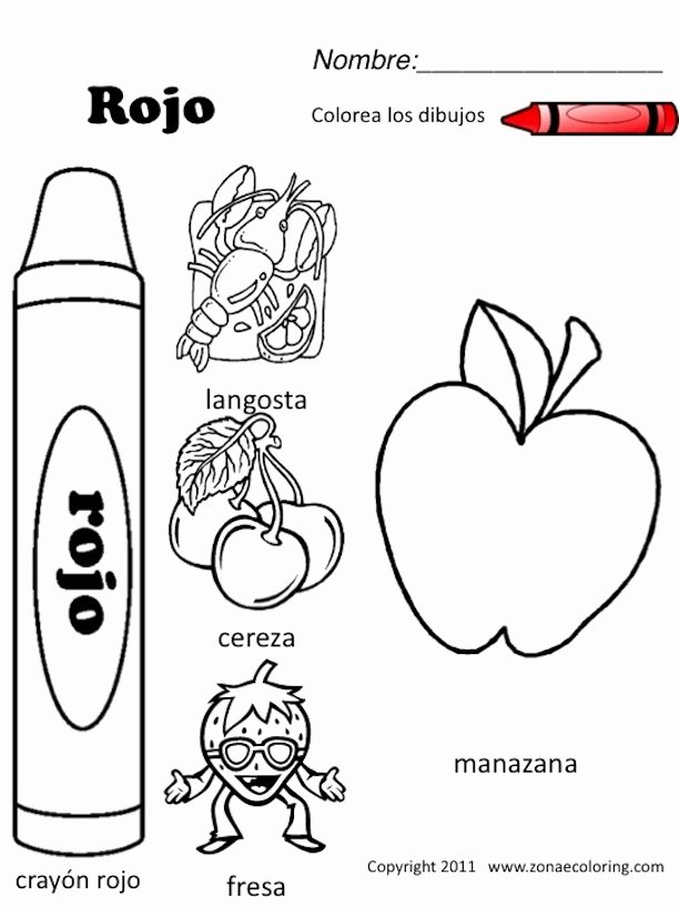 Colors In Spanish Worksheet Inspirational Z'onae Coloring Education Colors Colors Worksheets 1 Spanish