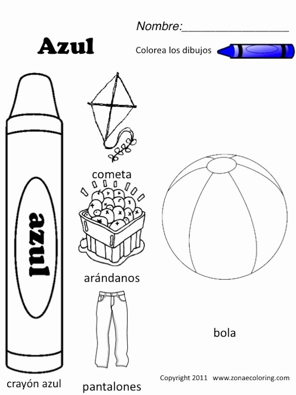 Colors In Spanish Worksheet Luxury Z'onae Coloring Education Colors Colors Worksheets 1 Spanish