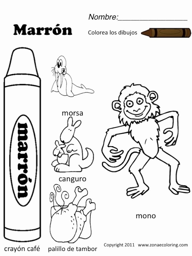 Colors In Spanish Worksheet New 13 Best Of Colors Spanish Worksheets Printable