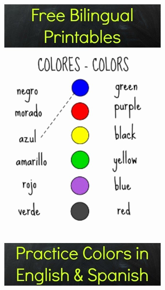 Colors In Spanish Worksheet New Free Printables to Practice Colors In Spanish