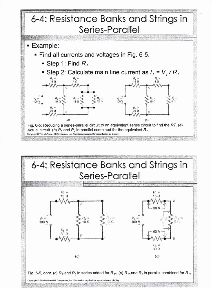 Combination Circuits Worksheet with Answers Unique Chapter 6 Series Parallel Circuit