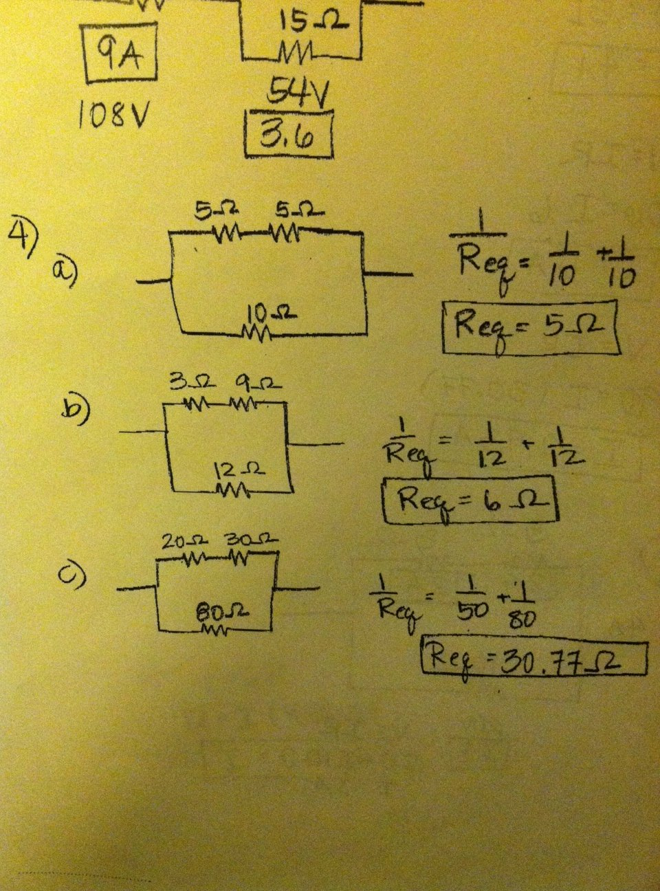 Combination Circuits Worksheet with Answers Unique some solutions to Bination Circuits Worksheet
