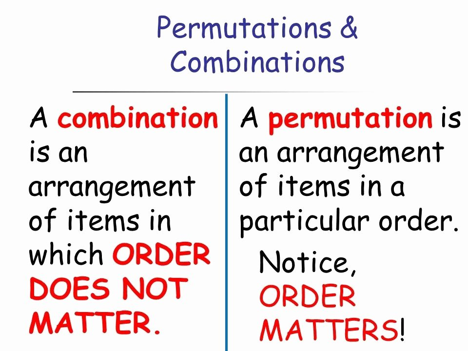 Combinations and Permutations Worksheet Beautiful Permutations and Binations Study Material for Iit Jee