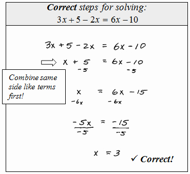 Combining Like Terms Equations Worksheet Awesome solving Equations by Bining Like Terms Worksheet the