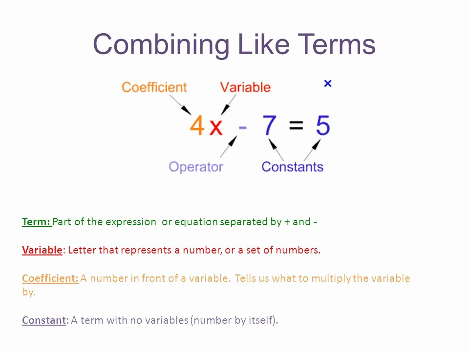 Combining Like Terms Equations Worksheet Beautiful Variables and Equations Bining Like Terms Worksheet