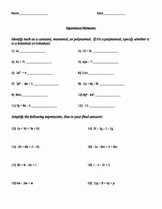 Combining Like Terms Equations Worksheet Inspirational Bining Like Terms Equations Worksheet the Best