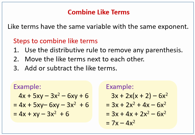 Combining Like Terms Equations Worksheet Inspirational How to Simplify Equations solutions Examples Videos