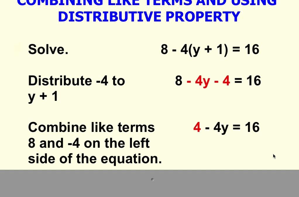 Combining Like Terms Equations Worksheet Inspirational solving Multi Step Equation Using Distributive Property