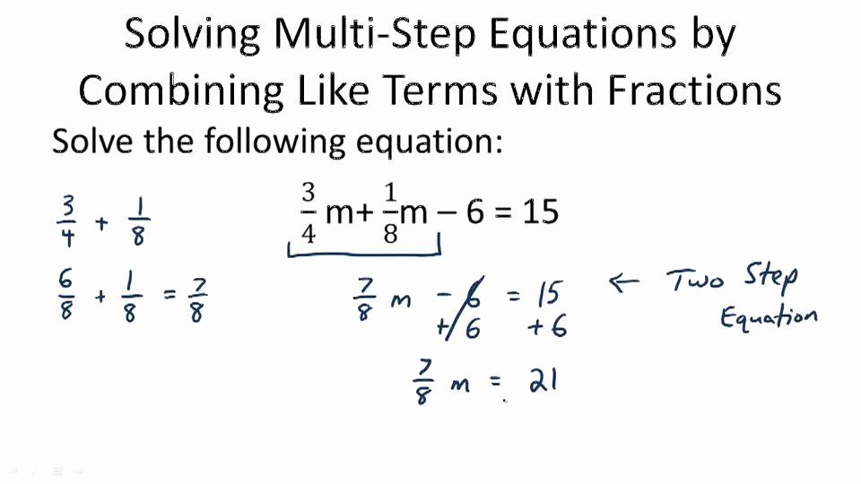 Combining Like Terms Equations Worksheet Lovely solving Equations by Bining Like Terms Worksheet the