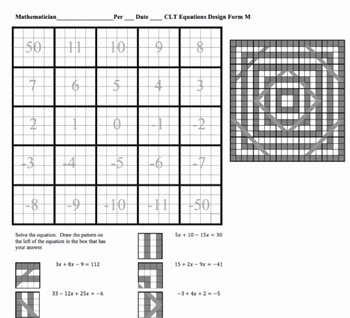 Combining Like Terms Equations Worksheet Unique solving Equations with Bining Like Terms Line Design