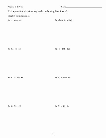 Combining Like Terms Practice Worksheet Inspirational Activity 2 3 1 Bining Like Terms with Algebra Tiles