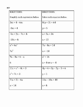 Combining Like Terms Worksheet Best Of Bining Like Terms and solving Equations Worksheet by
