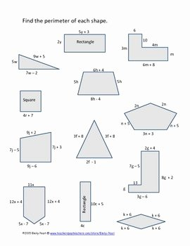 Combining Like Terms Worksheet Pdf Beautiful 7 Ee 1 Finding Perimeter by Bining Like Terms by Emily