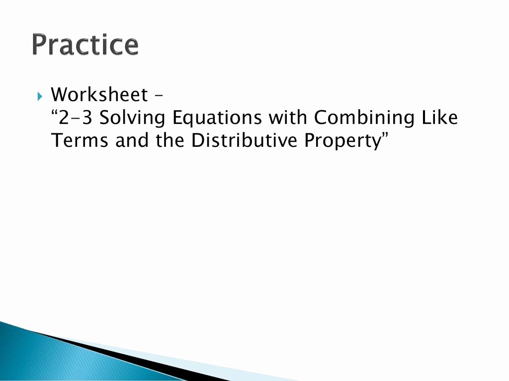 Combining Like Terms Worksheet Pdf Best Of Bining Like Terms Practice Worksheet Math Worksheets