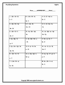 Combining Like Terms Worksheet Pdf Elegant Bining Like Terms with Distributive Property Negative