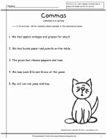 Commas In A Series Worksheet Awesome Wonders Second Grade Unit Three Week Two Printouts